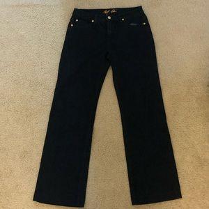 Bill Blass size 6 stretch dark wash bootcut jeans
